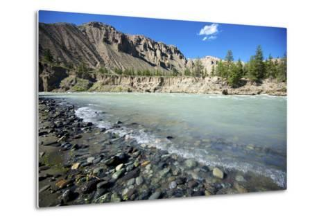 Nature Lanscape with Chilcotin River in Grasslands, Canada-Richard Wright-Metal Print