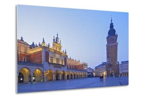 Town Hall Tower and Cloth Hall, Market Square, Krakow, Poland, Europe-Neil Farrin-Metal Print