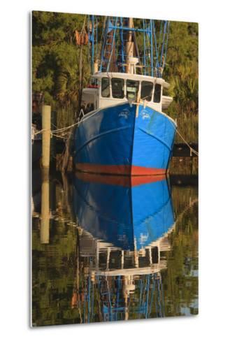 USA, Florida, Apalachicola, Shrimp Boat Docked at Apalachicola-Joanne Wells-Metal Print