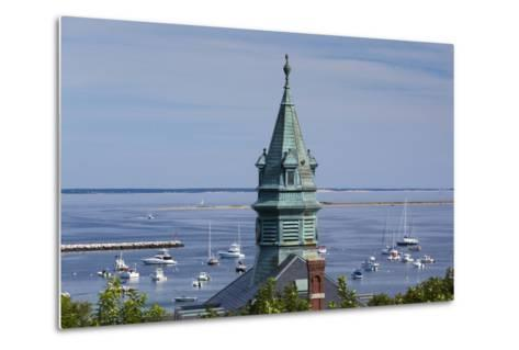 Massachusetts, Cape Cod, Provincetown, View of Town Hall and Harbor-Walter Bibikow-Metal Print