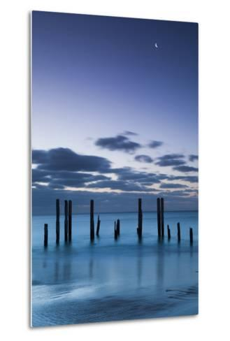 Australia, Fleurieu Peninsula, Port Willunga, Old Jetty, Dusk-Walter Bibikow-Metal Print