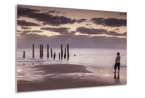 Australia, Fleurieu Peninsula, Port Willunga, Old Jetty, Dusk-Walter Bibikow-Metal Print