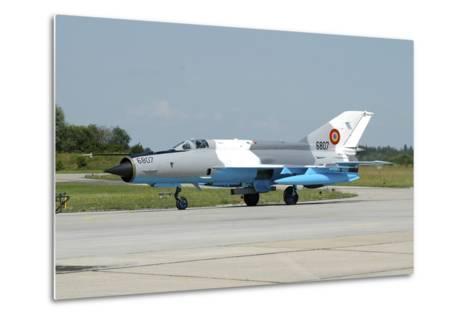 Mig-21 Lancer of the Romanian Air Force-Stocktrek Images-Metal Print