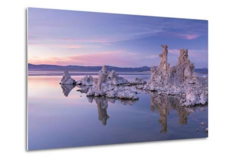 Salt Pillar Formations at Sunset, South Tufa, Mono Lake, California, USA-Adam Burton-Metal Print