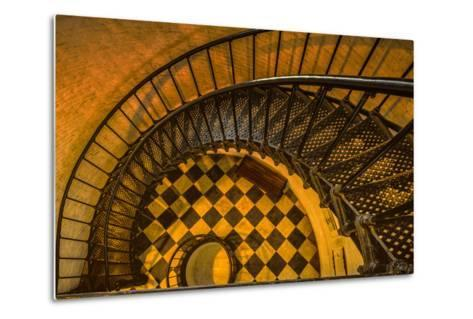 Spiral Staircase of St. Augustine Lighthouse, St. Augustine, Florida-Rona Schwarz-Metal Print