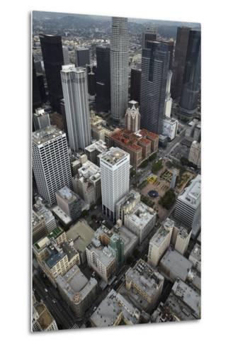 Downtown Los Angeles, Including Us Bank Tower 73 Floors, Aerial-David Wall-Metal Print