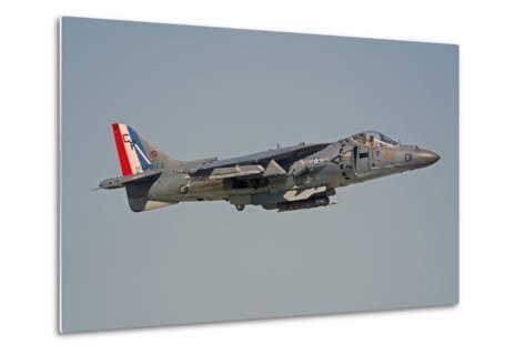 Av-8B Harrier Flying over Nellis Air Force Base, Nevada-Stocktrek Images-Metal Print
