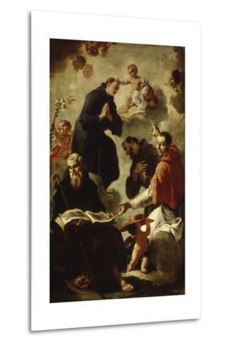Baby Jesus Blessing Four Saints-Francesco Capella-Metal Print