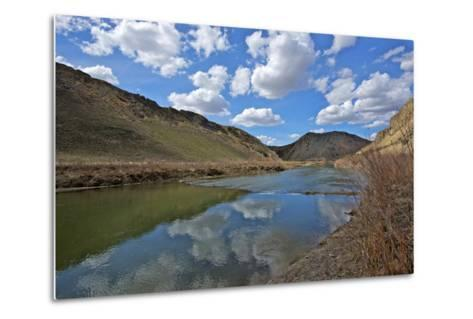 Humboldt River, the First Crossing of Carlin Canyon in Nevada-Richard Wright-Metal Print