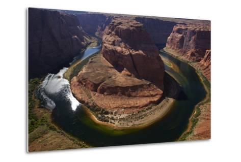 Horseshoe Bend, 1000 Ft. Drop to Colorado River-David Wall-Metal Print