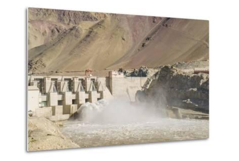Alchi, the Dam along Indus River-Guido Cozzi-Metal Print