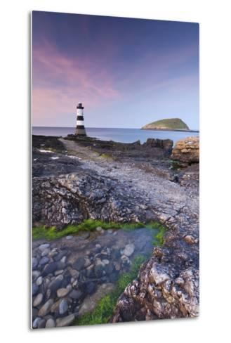 Penmon Point Lighthouse and Puffin Island, Anglesey, North Wales-Adam Burton-Metal Print
