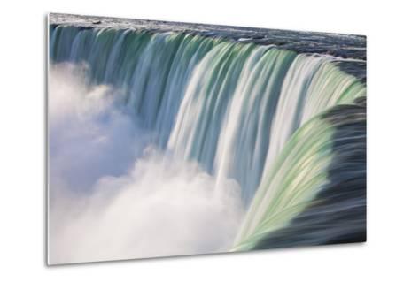 Canada, Ontario, Niagara, Niagara Falls, View of Table Rock Visitor Center and Horseshoe Falls-Jane Sweeney-Metal Print