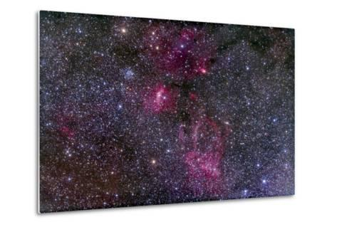 Messier 52 and the Bubble Nebula in Cassiopeia-Stocktrek Images-Metal Print