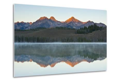 Sunrise at Sawtooth Mts, Little Redfish Lake, Stanley, Idaho-Michel Hersen-Metal Print
