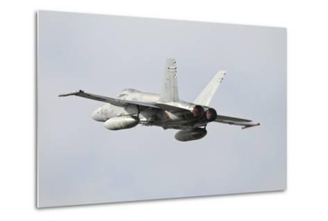 Spanish Air Force Ef-18M Hornet Taking Off-Stocktrek Images-Metal Print