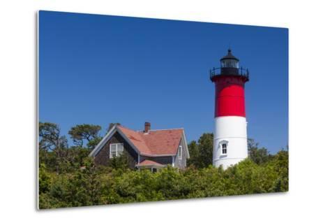 Massachusetts, Cape Cod, Eastham, Nauset Light, Lighthouse-Walter Bibikow-Metal Print