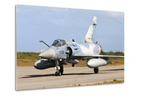 French Air Force Mirage 2000 Taxiing at Natal Air Force Base, Brazil-Stocktrek Images-Metal Print