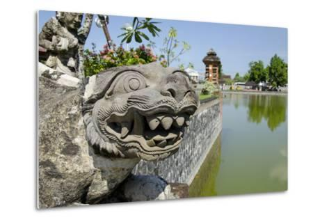 Indonesia, Mayura Water Palace. Statue of Mythical Creature-Cindy Miller Hopkins-Metal Print