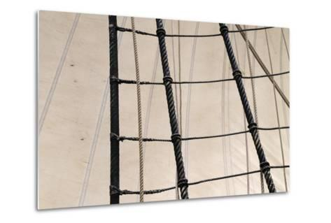 Canada, B.C, Victoria. Rigging and Sails on the Hms Bounty-Kevin Oke-Metal Print