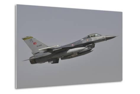 A Turkish Air Force F-16C Taking Off During Exercise Anatolian Eagle-Stocktrek Images-Metal Print