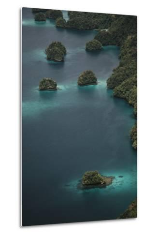 Micronesia, Palau, Aerial View of Rock Islands and World Heritage Site-Stuart Westmorland-Metal Print