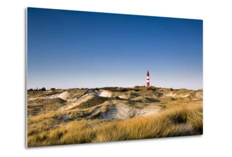 Lighthouse in the Dunes, Amrum Island, Northern Frisia, Schleswig-Holstein, Germany-Sabine Lubenow-Metal Print
