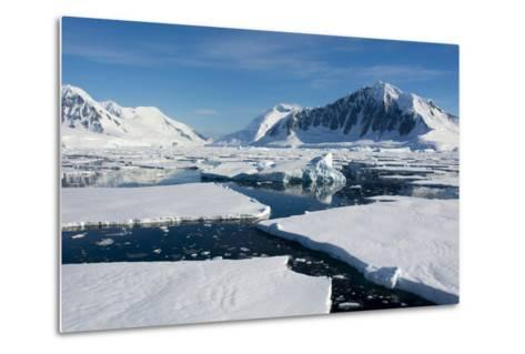 Antarctica. Antarctic Circle. Adelaide Island. the Gullet. Ice Floes-Inger Hogstrom-Metal Print