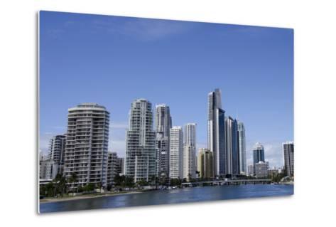 Australia, Queensland, Gold Coast. Waterfront View of Surfers Paradise-Cindy Miller Hopkins-Metal Print