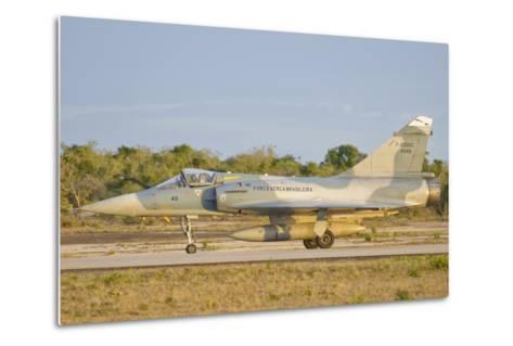 Brazilian Air Force Mirage 2000 at Natal Air Force Base, Brazil-Stocktrek Images-Metal Print