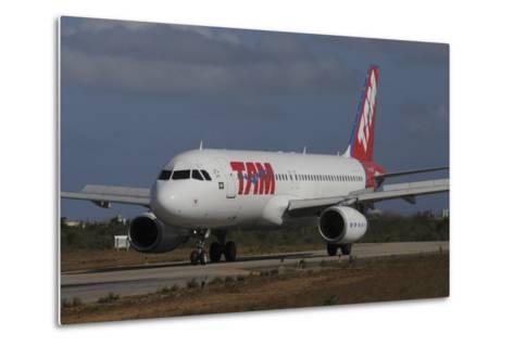 Airbus A320 from Tam Airlinse Taken at Natal Airport, Brazil-Stocktrek Images-Metal Print