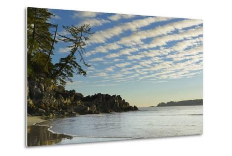 Canada, B.C, Vancouver Island. Clouds and Reflections on Tonquin Beach-Kevin Oke-Metal Print