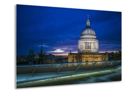 England, London, City, St. Pauls Cathedral from One New Change, Dusk-Walter Bibikow-Metal Print