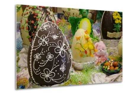 Australia. Easter Display of Decorated Chocolate Eggs and Candy-Cindy Miller Hopkins-Metal Print
