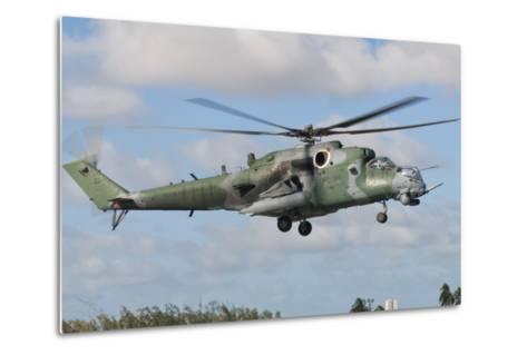 Brazilian Air Force Mi-35 at Natal Air Force Base, Brazil-Stocktrek Images-Metal Print