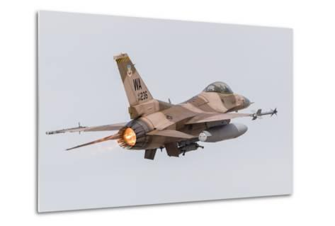 An Aggressor F-16C Fighting Falcon of the U.S. Air Force-Stocktrek Images-Metal Print