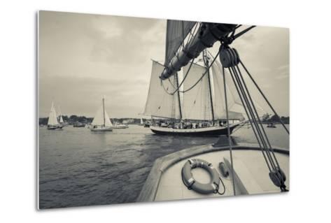 Massachusetts, Schooner Festival, Schooners in Gloucester Harbor-Walter Bibikow-Metal Print