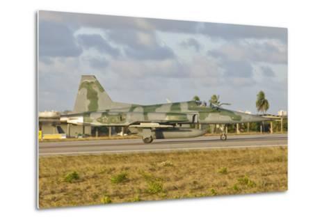 Brazilian Air Force F-5 at Natal Air Force Base, Brazil-Stocktrek Images-Metal Print