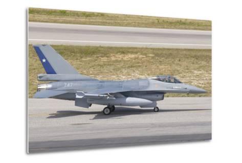 Chilean Air Force F-16 at Natal Air Force Base, Brazil-Stocktrek Images-Metal Print