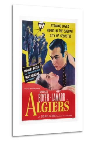 Algiers, from Left: Hedy Lamarr, Charles Boyer, 1938--Metal Print