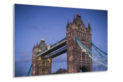 England, London, Tower Bridge, Dusk-Walter Bibikow-Metal Print