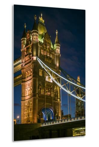 England, London, Tower Bridge, Dusk-Walter Bibikow-Metal Print