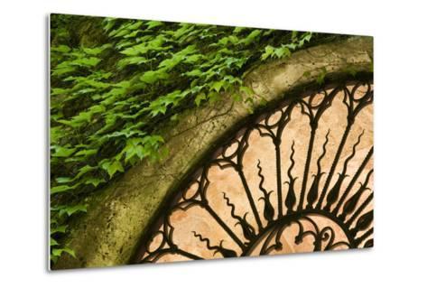 Europe, Italy, Tuscany. Celsa Castle Window Detail-Jaynes Gallery-Metal Print