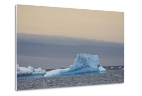 Antarctica. Brown Bluff. Bright Blue Iceberg-Inger Hogstrom-Metal Print