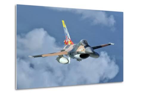 Venezuelan Air Force F-16 in Flight over Brazil-Stocktrek Images-Metal Print