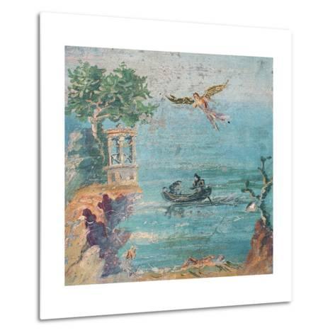 Fall of Icarus, Dead on Beach, Daedalus in Sky, C. 45-79--Metal Print