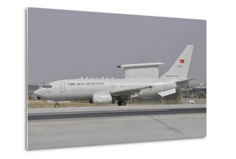A Turkish Air Force Boeing 737 Airborne Early Warning and Control Aircraft-Stocktrek Images-Metal Print