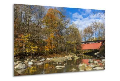 Everett Road Covered Bridge on Furnace Run Cree, Cuyahoga National Park, Ohio-Chuck Haney-Metal Print