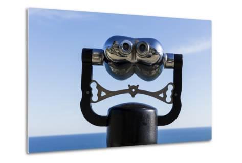 Binoculars Overlooking Mediterranean Sea in Vernazza, Cinque Terre, Italy-Paul Souders-Metal Print