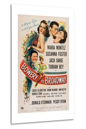 Bowery to Broadway, 1944--Metal Print